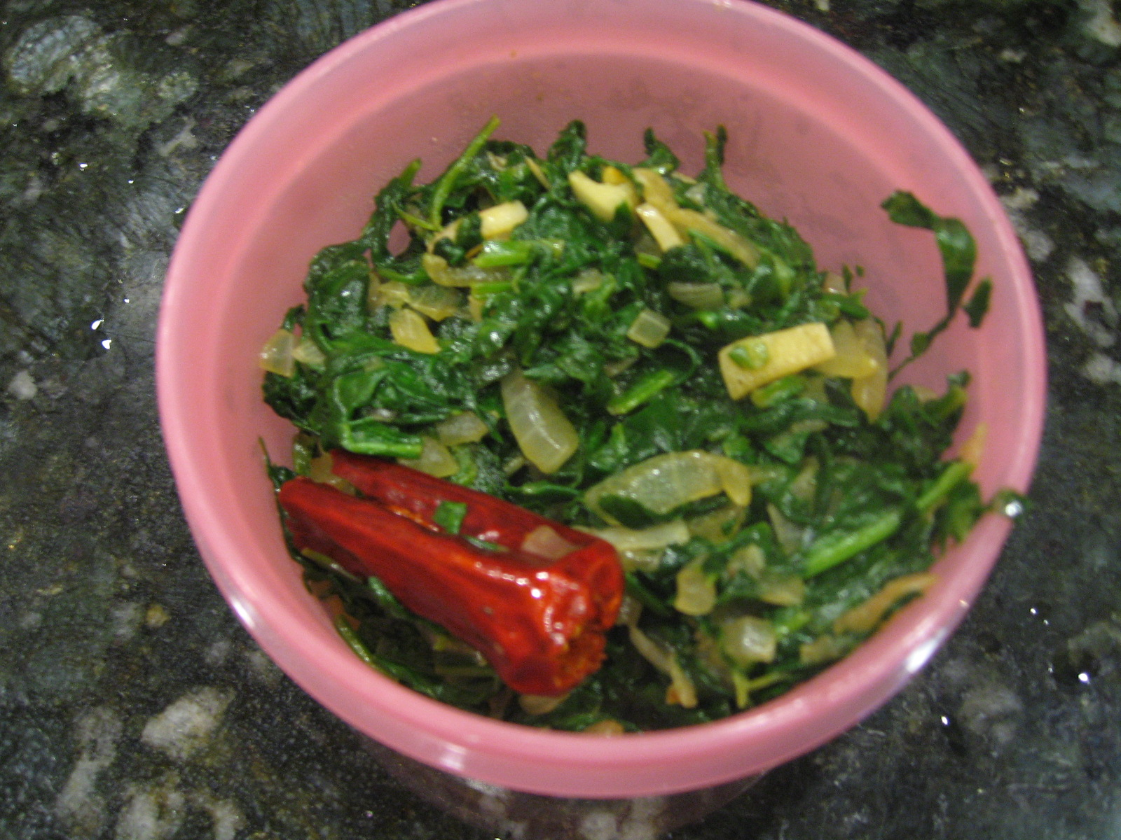Spinach Poriyal