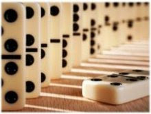 Como fichas de dominó