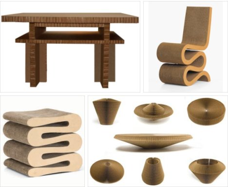 Priscilla Cândido: Green Furniture Cut form Cardboard