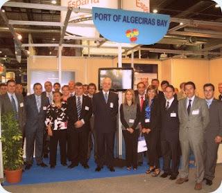 embajador de España en Noruega, stand del Puerto Bahía de Algeciras en Norshipping 2009