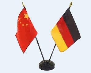 china-germany flags