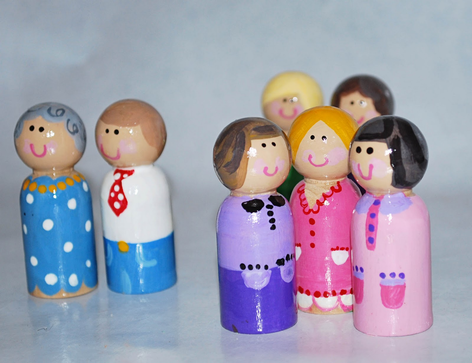 Handmade Peg Baskets : Handmade gift idea peg dolls clumsy crafter