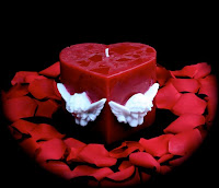 Red Heart Valentine Candle Wallpaper
