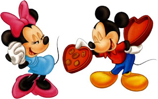 Mickey Mouse and Minnie Valentine Wallpaper