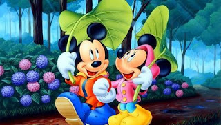 mickey mouse in love wallpaper