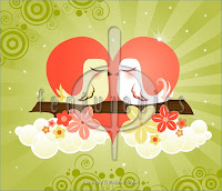 Love Birds Kissing Wallpaper