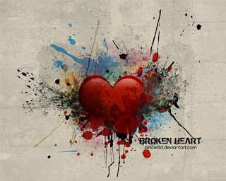 broken valentine heart wallpaper