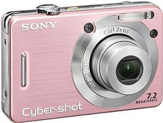 Digital Camera Sony DSC W55 Pink