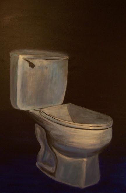 """Toilet  24""""x36"""" SOLD"""
