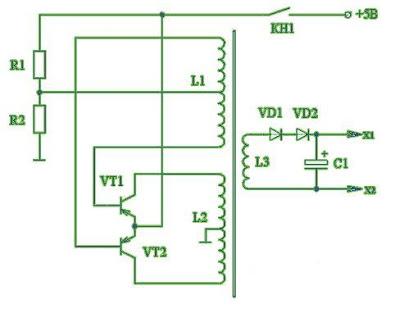 (схема электрошокера)