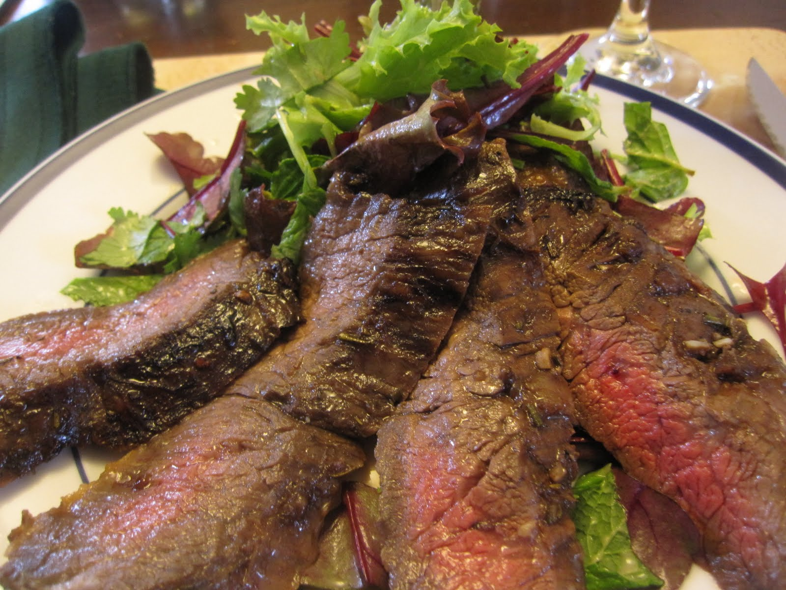 Recipes from 4EveryKitchen: Balsamic Vinegar Marinated Skirt Steak