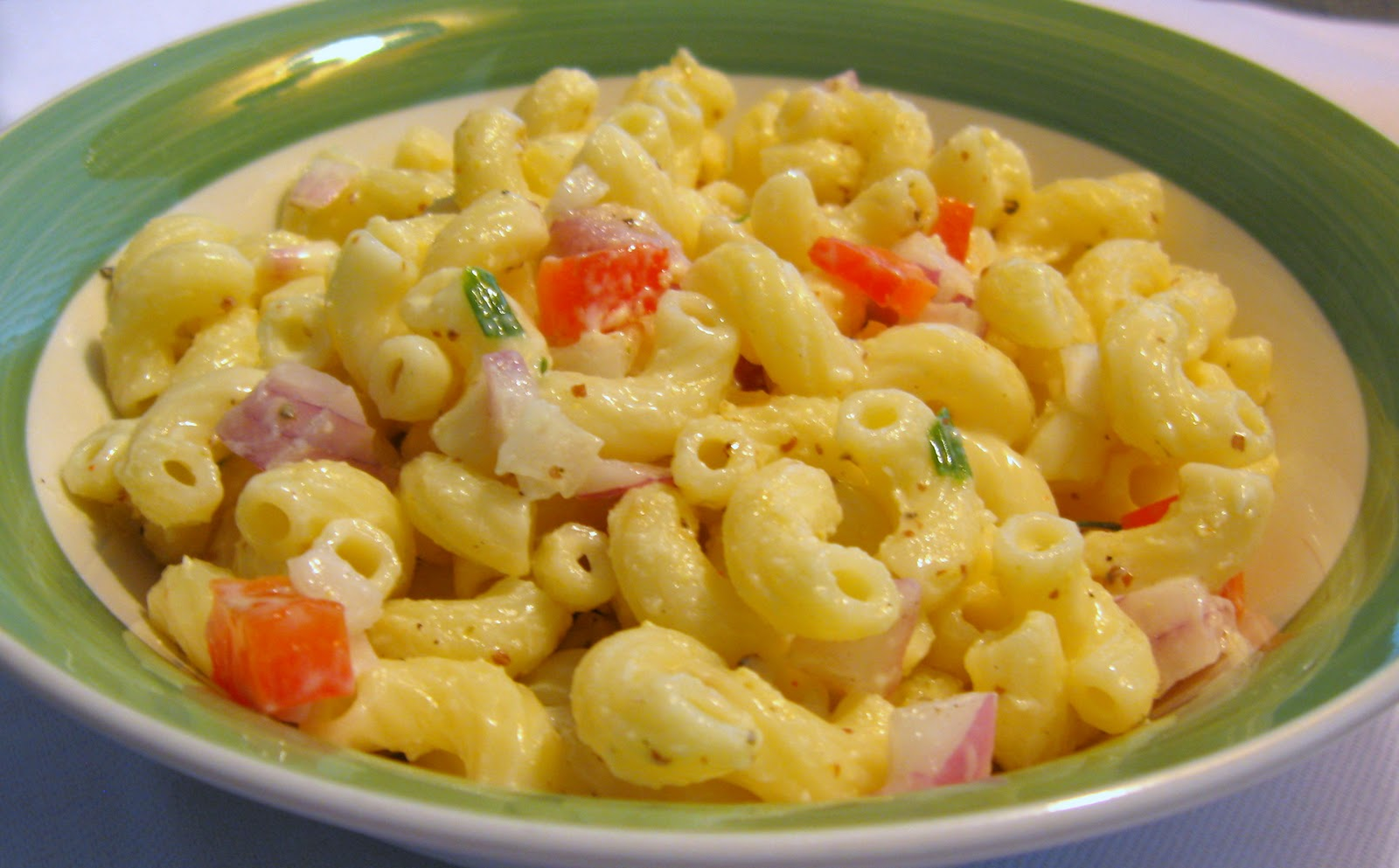 Cool and creamy, this Macaroni Salad lends itself to holiday