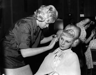 1960s teenage hairdo