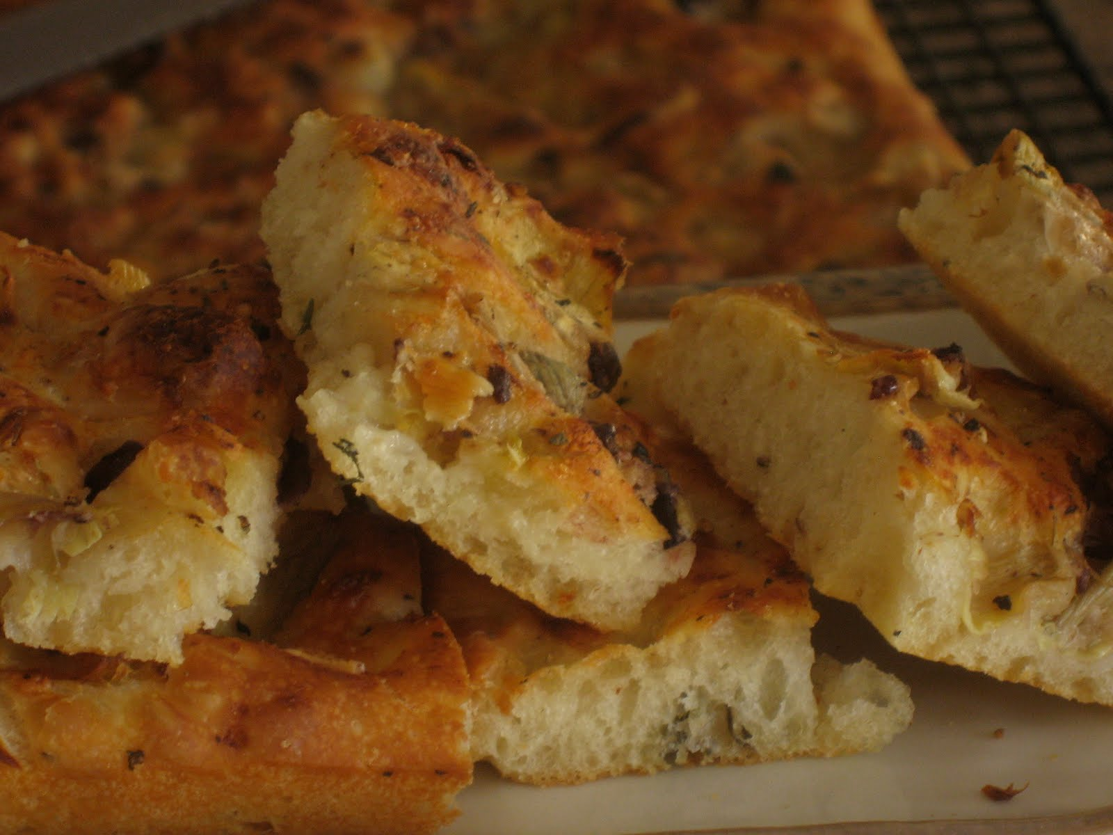 The Dirty Oven: Roasted Garlic Artichoke & Olive Focaccia