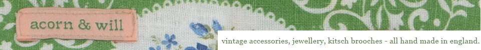 Acorn & Will - vintage accessories jewellery floral prints...
