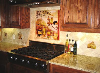 quot kitchen backsplash for a southwestern look glass tile
