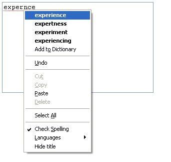 Firefox spell checker