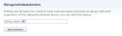 OpenDNS content filtering block always