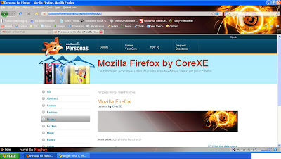 Firefox personas Control your theme