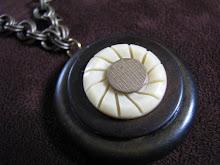 vintage buttons pendant