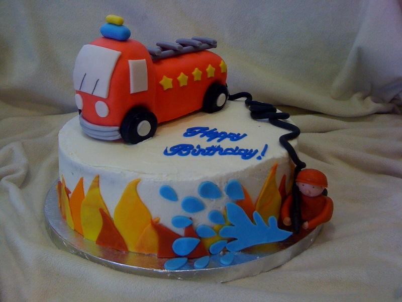 Bradycakes Firetruck Birthday Cake