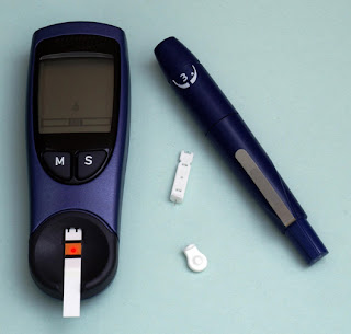 diabetes meter, finger-stick test