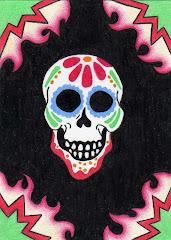 """Sugar Skull #1"" ACEO"