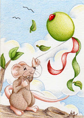 """""""Olive Kite"""" ACEO - SOLD"""