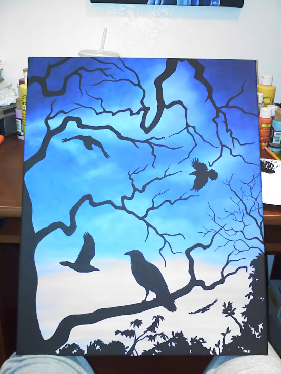 Raven Sky painting - SOLD