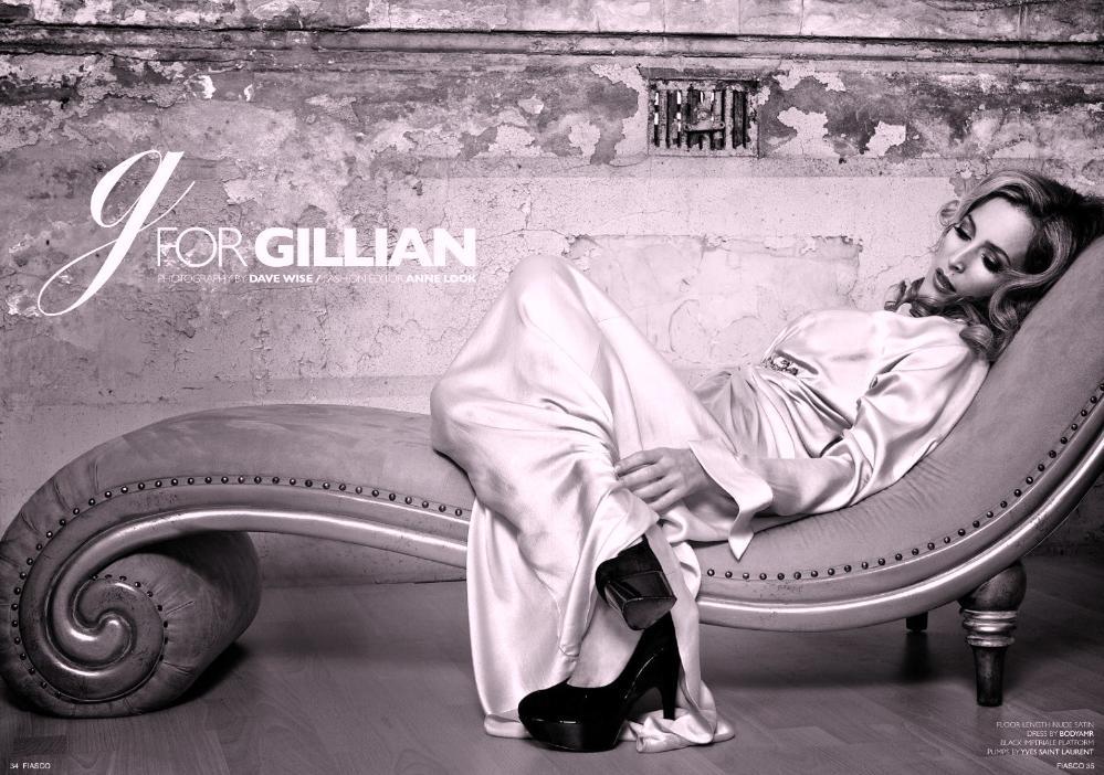 Fiasco Magazine Gillian Anderson. With Gillian Anderson a