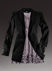 Strong shoulder jacket.. Beautiful!!