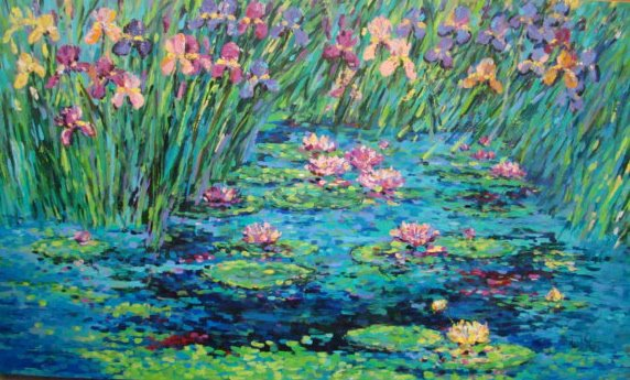 """WATER LILLIES"" BY NOEL SKIBA"