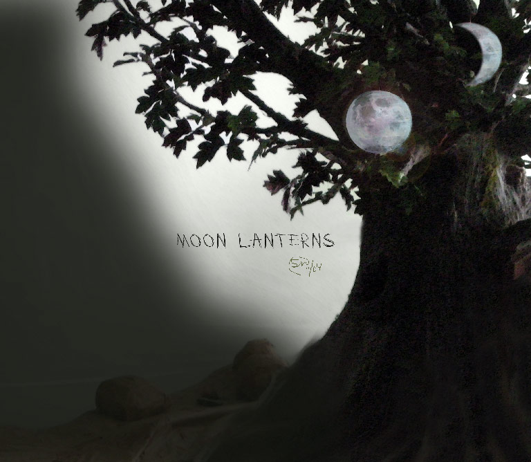 Notes from Halfland: Eureka! New Idea: Moon Lanterns