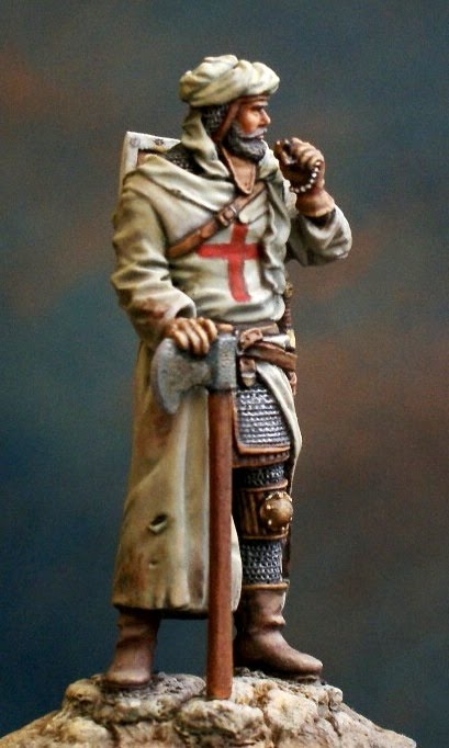crusader 54mm white metal figure