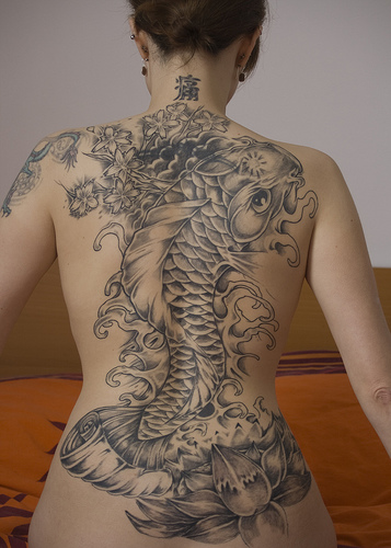 japanese koi fish tattoo