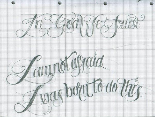 tattoo script font