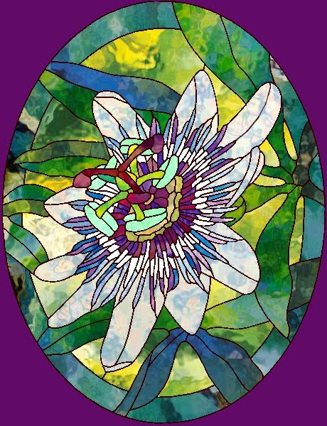 flower designs for glass painting. Modern design of stained glass