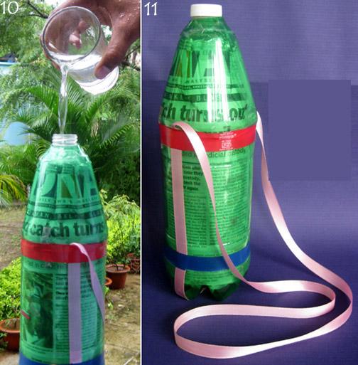 ทำขวดน้ำเย็น ของใช้แล้ว ขวดพลาสติก รีไซเคิล