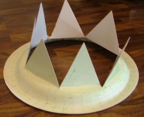 วิธีทำ หมวก ทำหมวกกระดาษ หมวกเด็ก หมวกปีใหม่ จานกระดาษ ของใช้แล้ว ลดขยะ รีไซเคิล วัสดุเหลือใช้ ไอเดีย howto diy ลดโลกร้อน โลกสีเขียว โครงงาน กระดาษ กระดาษใช้แล้ว recycle reuse