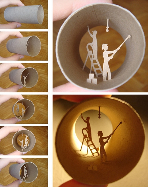 REUSE,  toilet paper rolls CRAFTS