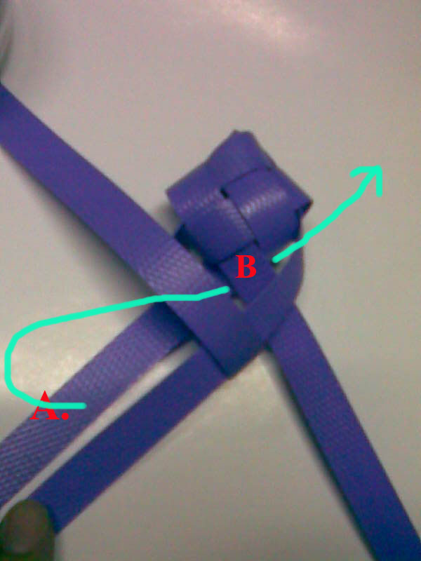 how to weave ribbon