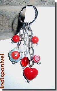 porta-chaves vermelho