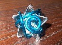 Anel estrela azul