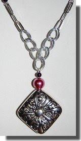 Colar rose perl