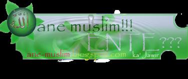 ANE MUSLIM!!!