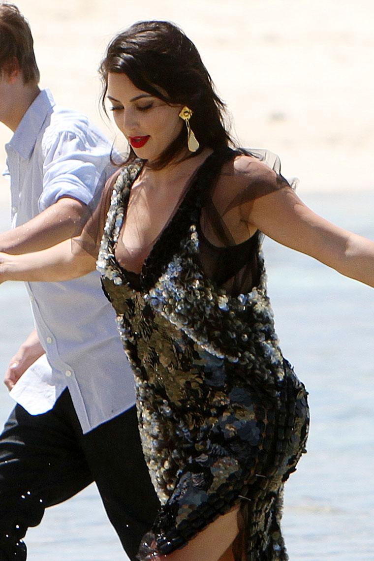 Kim Kardashian Nipple Slip