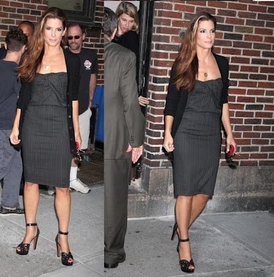 "Sandra Bullock at the ""Late Show with David Letterman"" in New York ..."