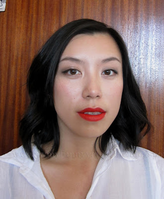 NYE face of the day with NARS Heatwave lipstick