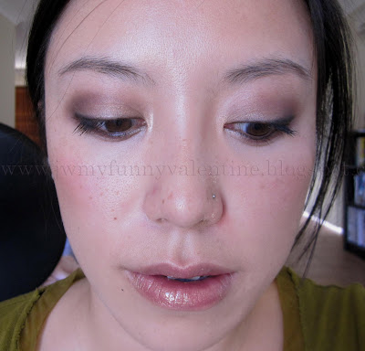 neutral purple eyes FOTD with NARS Ondine eye shadow and NARS Supervixen gloss