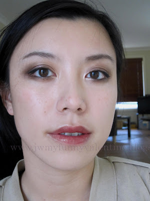 bronze smokey eye FOTD wearing Chanel Rouge Allure Extrait de Gloss in #59 Impertinence neutral browns
